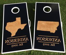 Regulation Cornhole BoardsSolid Wood Premium Craft 4x2 - C