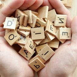 SCRABBLE WOOD TILES 100-500 Pieces Full Sets Letters Wooden