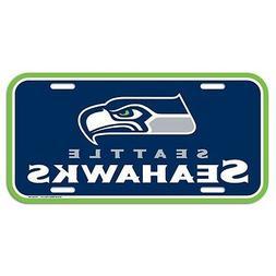 "SEATTLE SEAHAWKS 6""x12"" OFFICIAL LOGO LICENSE PLATE CAR BRAN"
