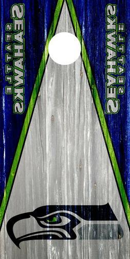 Seattle Seahawks Cornhole Wrap Board Decal NFL Skin 3M Vinyl