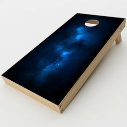 Skin Decal for Cornhole Game Board  / Space Galaxy Star Gaze