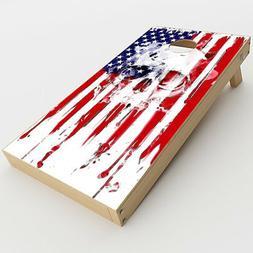 Skin Decal  for Cornhole Game Board Bag Toss  / U.S.A. Flag