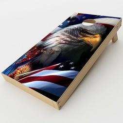 Skin Decals for Cornhole Game Board  / USA Bald Eagle in Fla