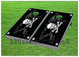 Skull & Crossbones CORNHOLE BEANBAG TOSS GAME w Bags Game Bo