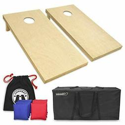 Solid Wood Premium Cornhole Set - Choose Between 4'x2' or 3'