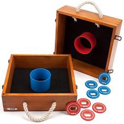 Premium Quality Outdoor Solid Wood Washer Toss Game Set for