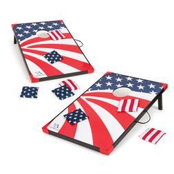 Stars & Stripes Portable Cornhole Bean Bag Toss Board Set Ga