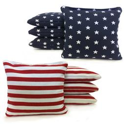 Stars and Stripes - 8 Cornhole bags American Flag Bags! W/ F