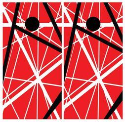 Van Halen Cornhole Board Wraps Skins Vinyl Laminated HIGH QU