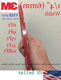 "3M VHB #5952 1/4"" x 15/21/36/108 ft Double-sided Acrylic Foa"