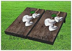 WEDDING Custom Cornhole Boards BEANBAG TOSS GAME w Bags Outd