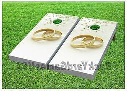 WEDDING Custom Cornhole Boards BEANBAG TOSS GAME wBags Weddi
