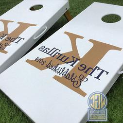 Wedding Monogram Cornhole Board Set