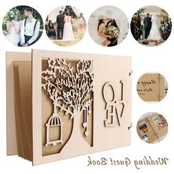 Wedding Wooden Guest Book Message Board Wooden Album Party D