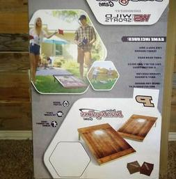Wild Sports Nfl 2'X3' Brown Wood Tailgate Toss Cornhole Game
